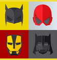 superhero mask on colored backgrounds vector image