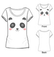 t shirt with panda vector image vector image