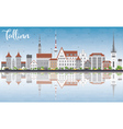 Tallinn Skyline with Gray Buildings vector image vector image