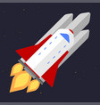technology ship rocket startup innovation vector image vector image