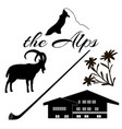 the alps flat icons vector image