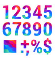 trendy material design number set vector image