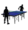 two men playing table tennis vector image vector image