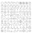Universal interface icons set vector image vector image
