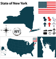USA map New York vector image vector image