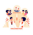 vaccination who can vaccinated vaccine for adult vector image vector image
