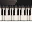 vector detailed piano keyboard vector image
