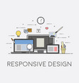 web and mobile design responsive ui process of vector image vector image