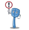 with sign spatula character cartoon style vector image vector image