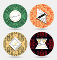 Templates vintage napkin Patterns with geometric vector image