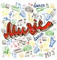 music color background vector image