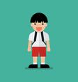 Cute cartoon boy vector image
