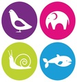 Logo animals vector image