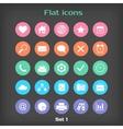 Round Flat Icon Set 1 vector image