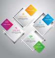 Squares template for infographic vector image
