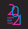 2021 happy new year background 2021 logo design vector image