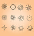 a set of minimal round patterns vector image vector image