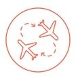 Airplanes line icon vector image vector image