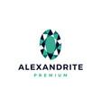 alexandrite gem jewelry logo icon vector image