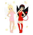 angel and devil vector image vector image