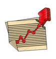 arrow up increase vector image