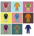 assembly flat icons men business suit vector image