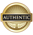 Authentic Gold Label vector image vector image