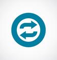 auto play icon bold blue circle border vector image vector image