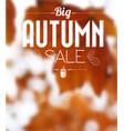 autumn sale retro poster vector image vector image