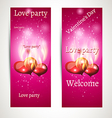 banner on a pink background with text vector image vector image