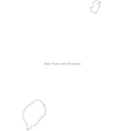 Black White Sao Tome and Principe Outline Map vector image