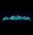 blue neon skyline manila city bright manila vector image vector image