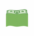 Bundle money Big pile dollars vector image