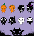 Character Halloween on Laver Background vector image vector image