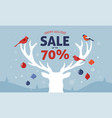 christmas sale banner xmas template background vector image