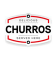 churros vintage label sign vector image vector image