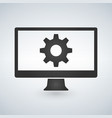 computer or monitor icon service cogwheel sign vector image vector image