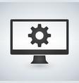 Computer or monitor icon service cogwheel sign
