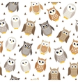 Cute cartoon owl seamless texture Owl pattern vector image vector image