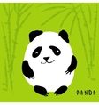 Cute cartoon panda character vector image