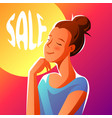 cute girl dreaming about sales vector image