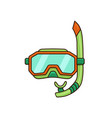 diving mask flat vector image