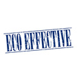 eco effective blue grunge vintage stamp isolated vector image vector image
