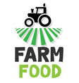 farm food tractor white background image vector image vector image