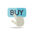 finger pointing to buy sign icon vector image