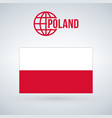 flag of poland isolated on modern background with vector image