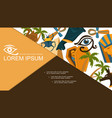 flat egypt elements composition vector image vector image