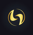gold abstract unique round circle logo vector image vector image