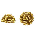 gold isolated bow side and top view vector image vector image