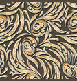golden swirls seamless pattern vector image